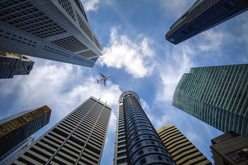immeuble et avion